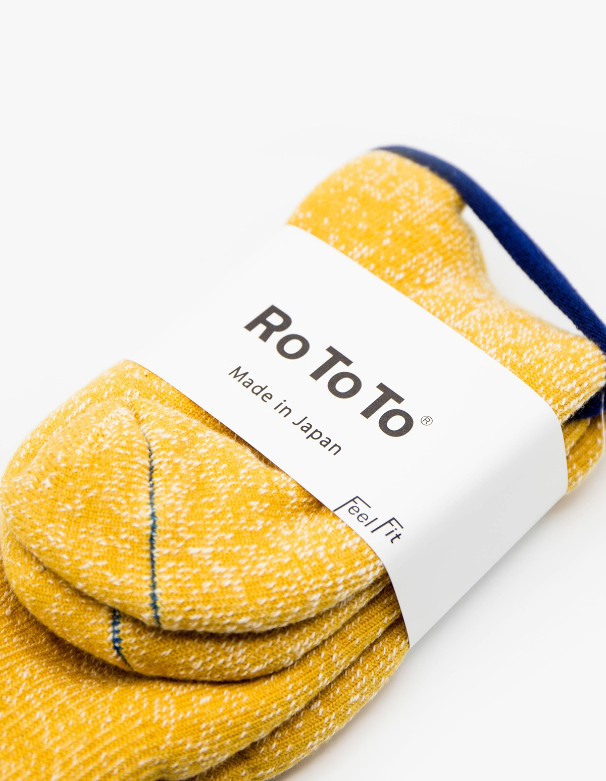 RoToTo Double Face Socks in Yellow