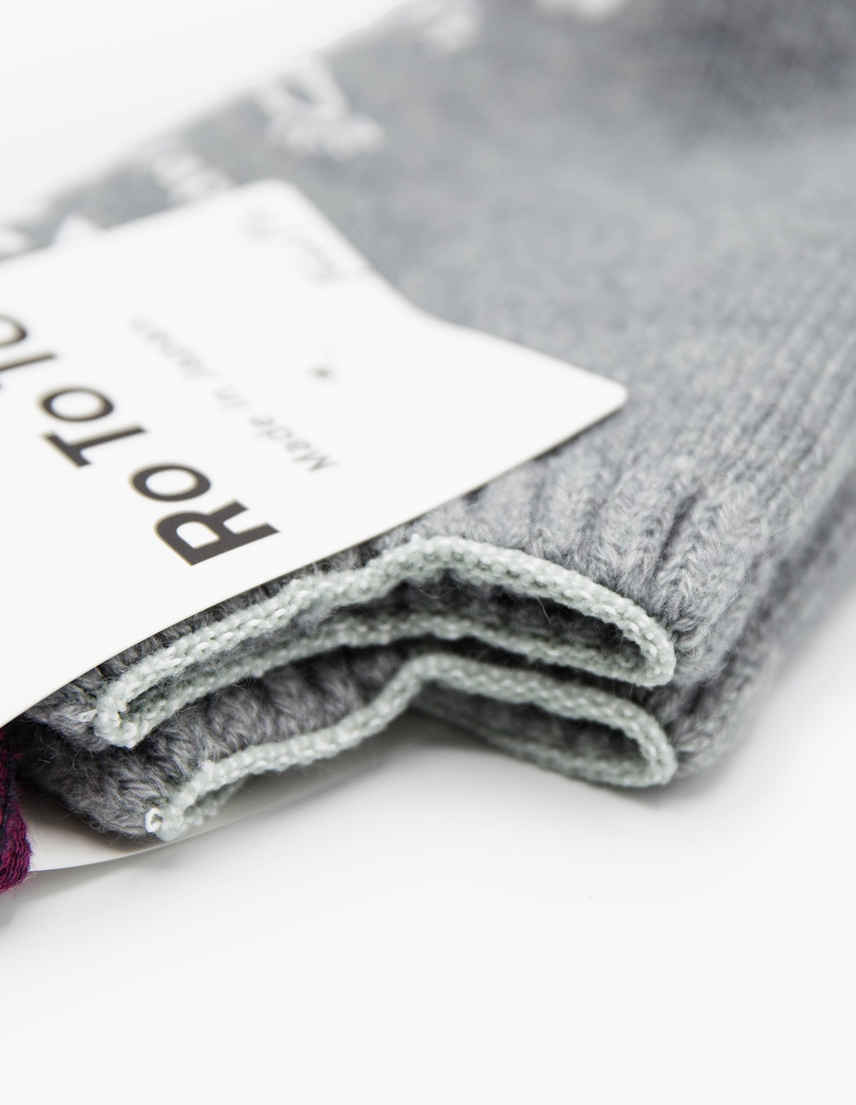 RoToTo Pile Socks Slipper in Grey
