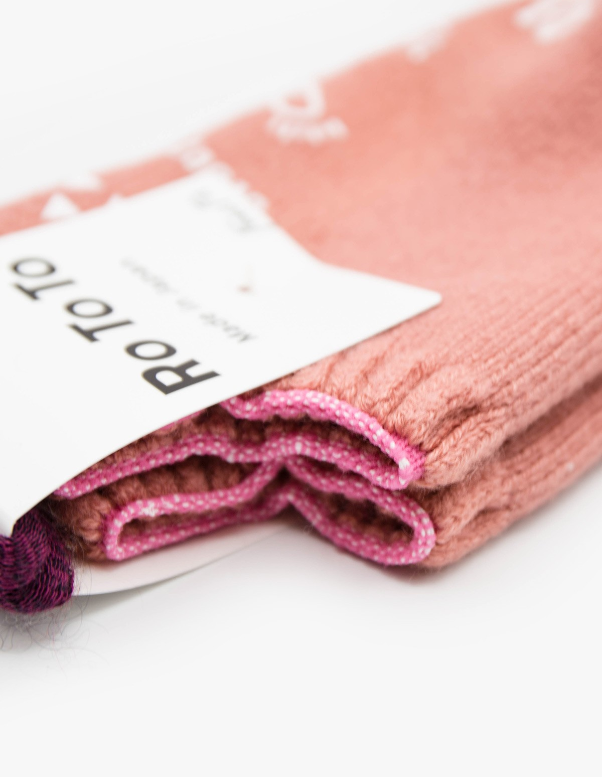 RoToTo Pile Socks Slipper in Pink