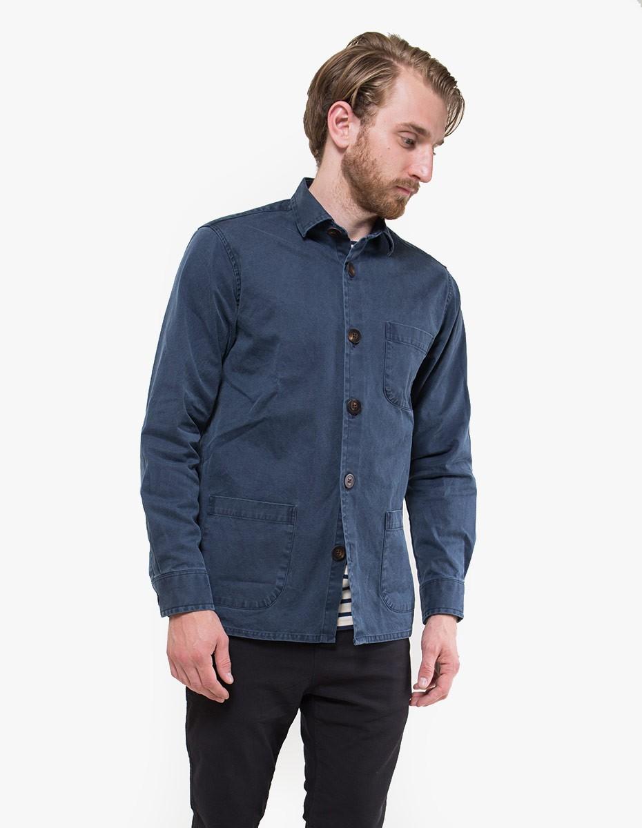 Schnayderman's Overshirt Overdyed One in Dark Blue