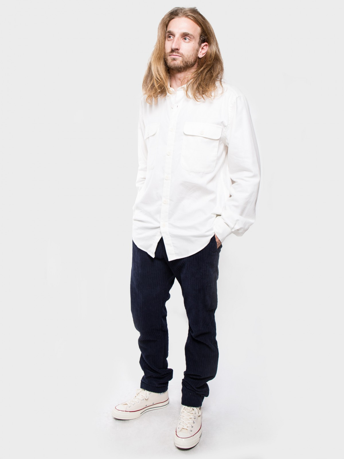 Schnayderman's Shirt Boxy Cashmere Solid in White