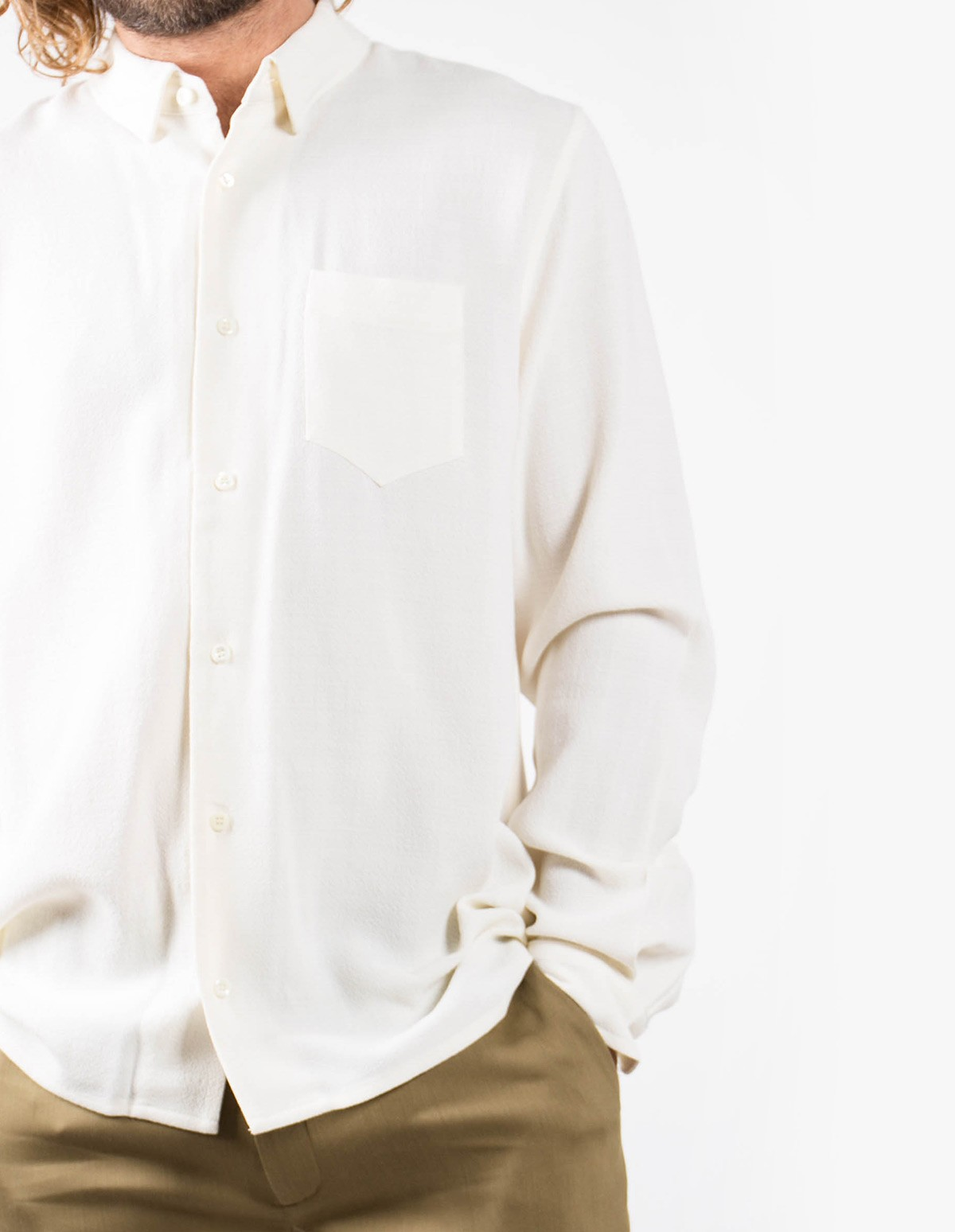 Séfr Hampus Shirt  in Off White