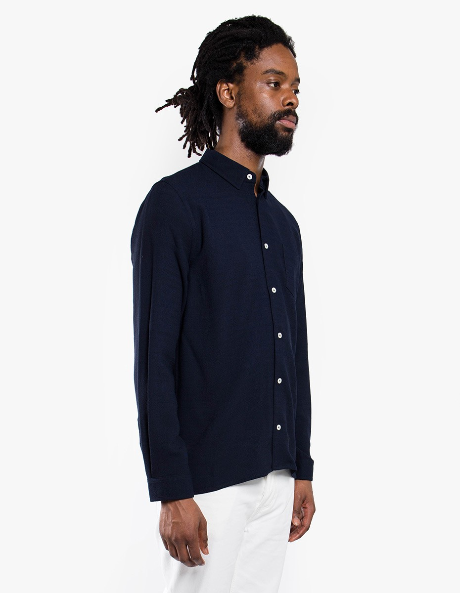 Séfr Hampus Shirt Navy  in Navy