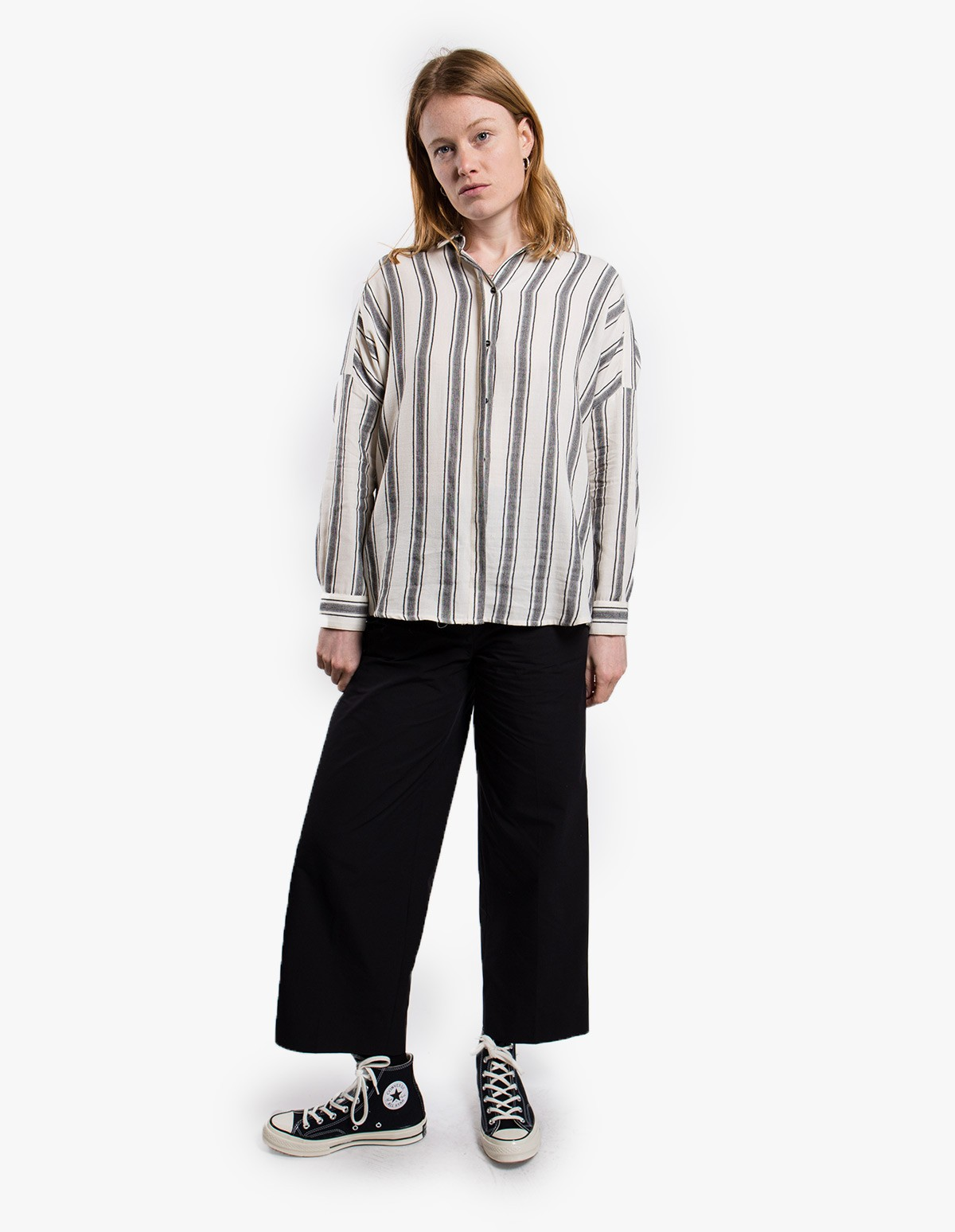 Sessùn  Lima Shirt in White / Black