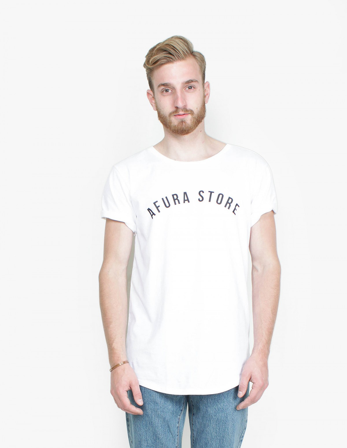 The 'Afura Store' Basic T-Shirt in White