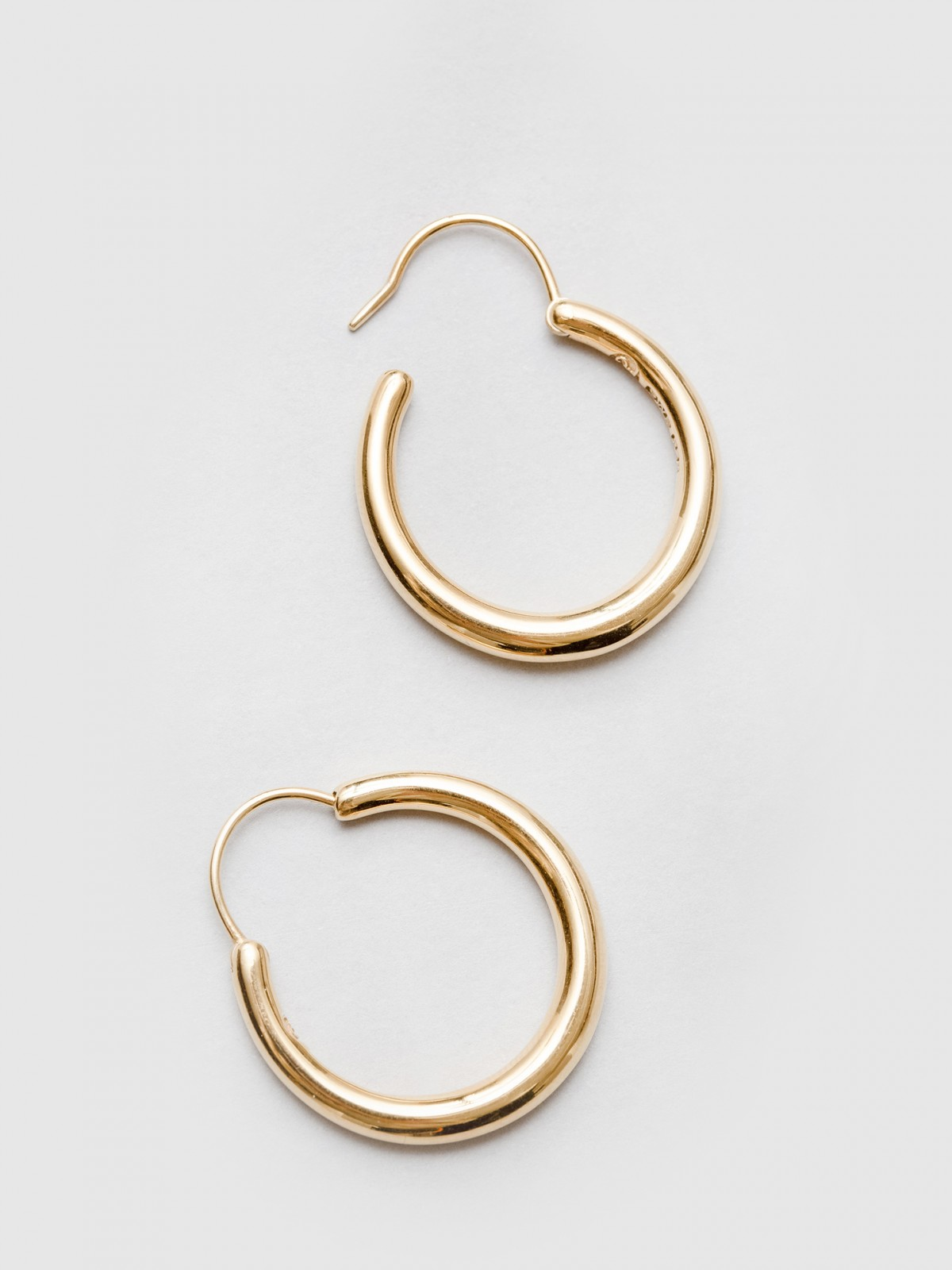 All Blues  Hungry Snake Earrings in Polished Vermeil