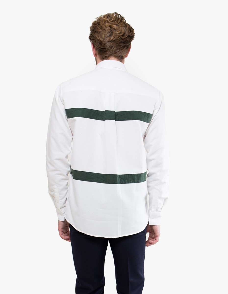 Soulland Asklund Shirt in Off White / Green