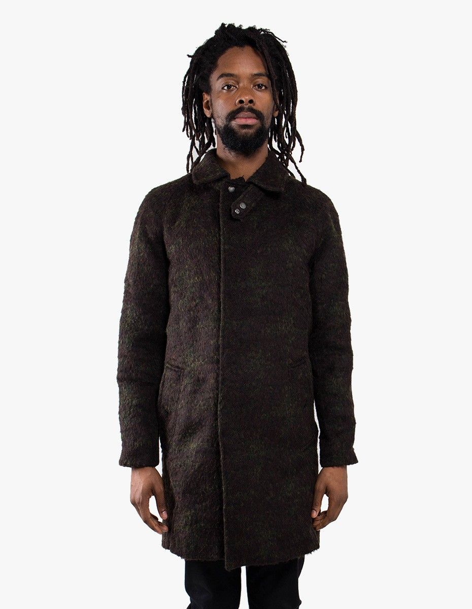 Soulland Bøge Wool Trench Coat in Multicolor