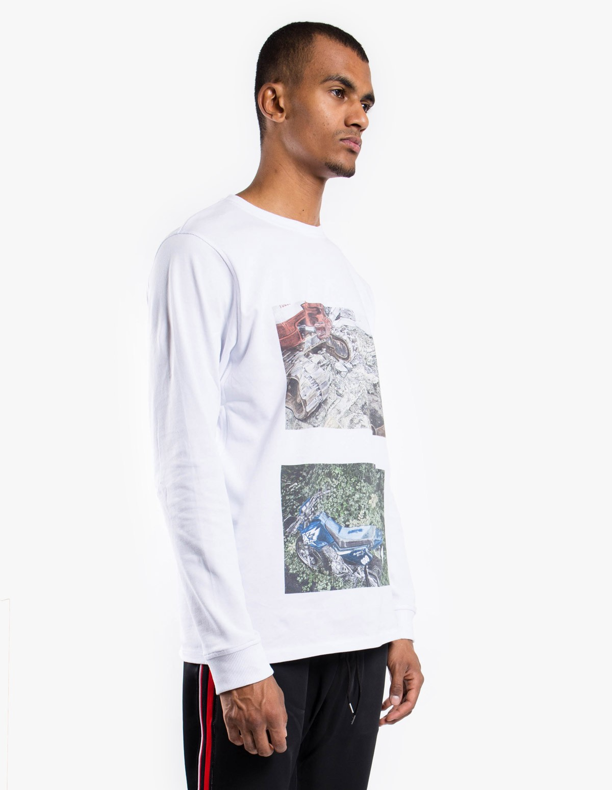 Soulland Brund Long Sleeve T-Shirt in White