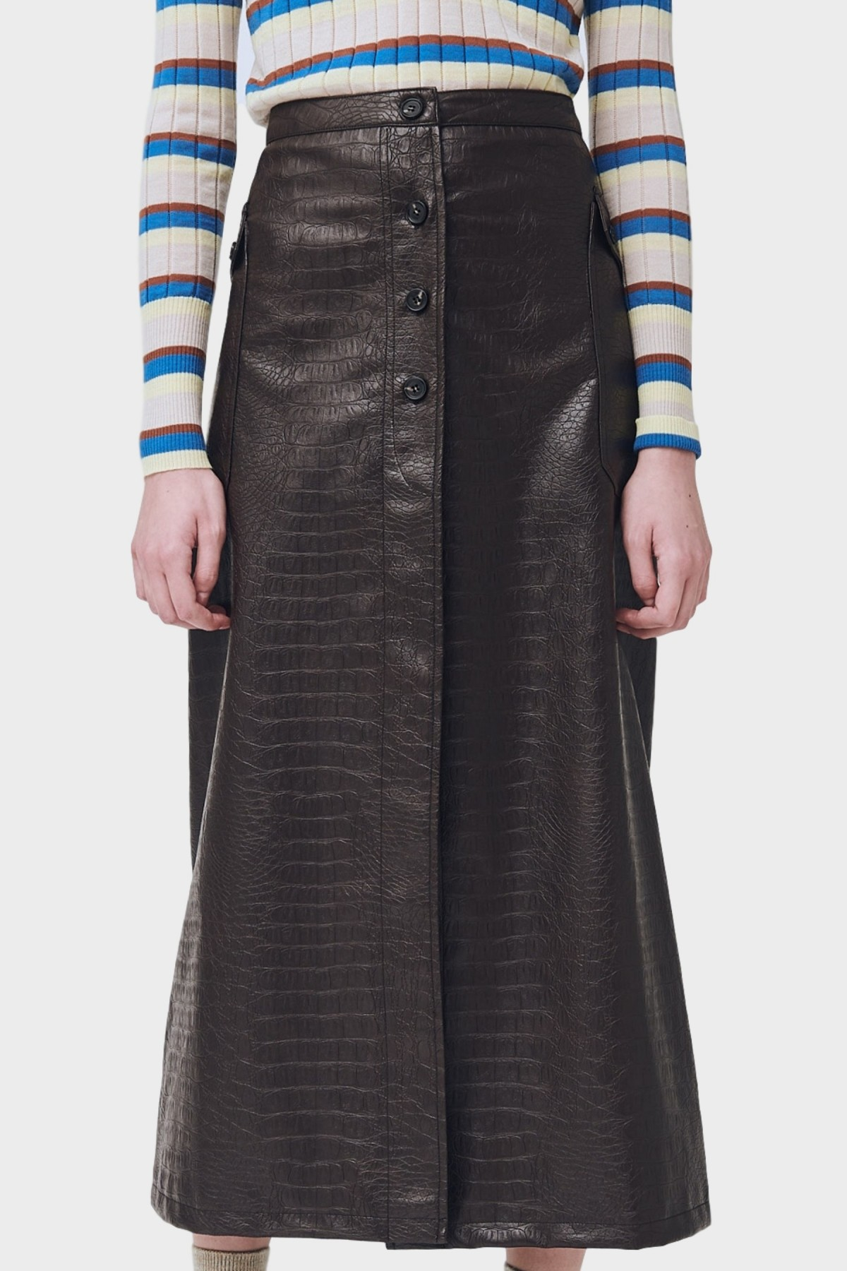 Soulland Cilla Skirt in Brown