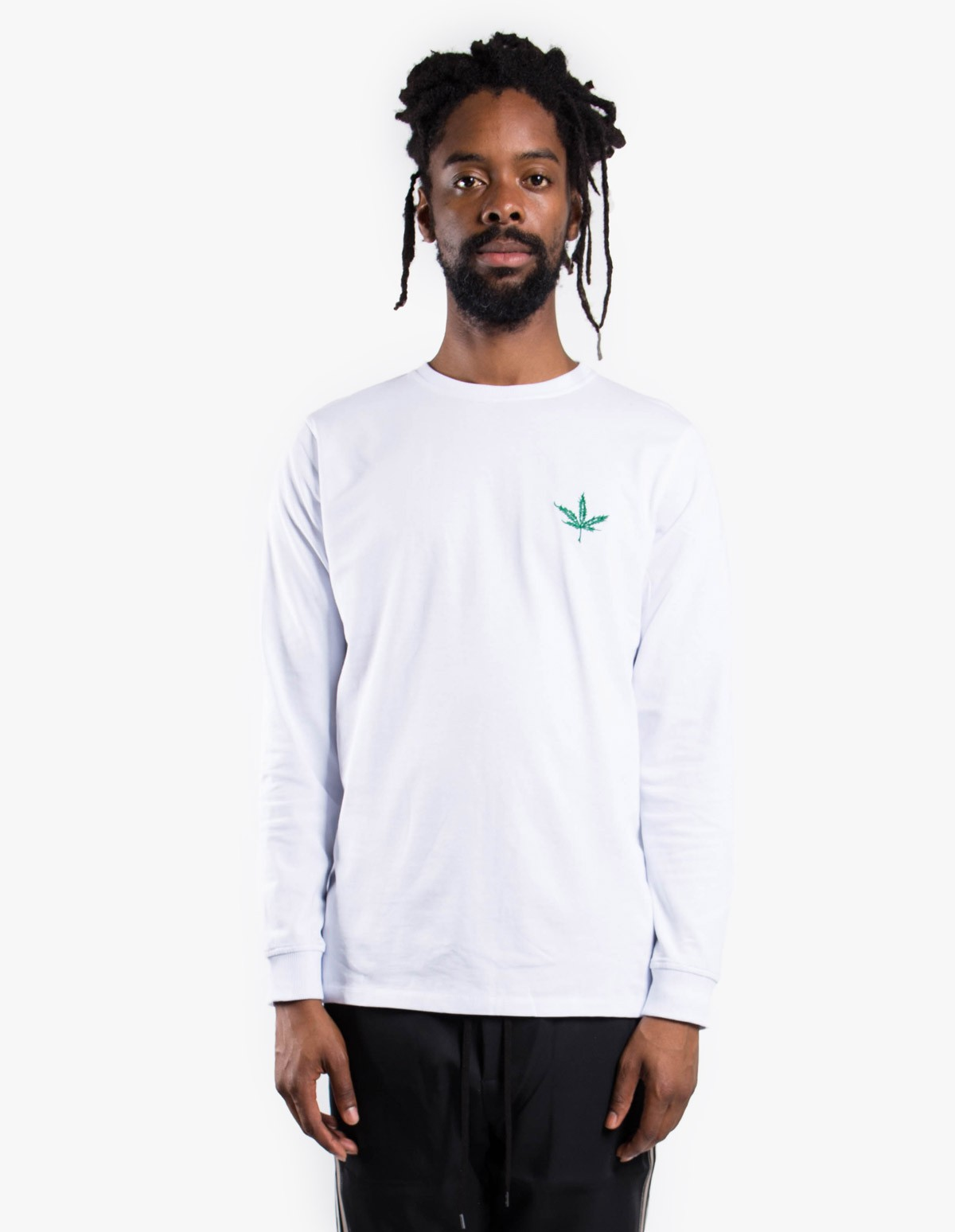 Soulland Cooper Long Sleeve T-Shirt in White