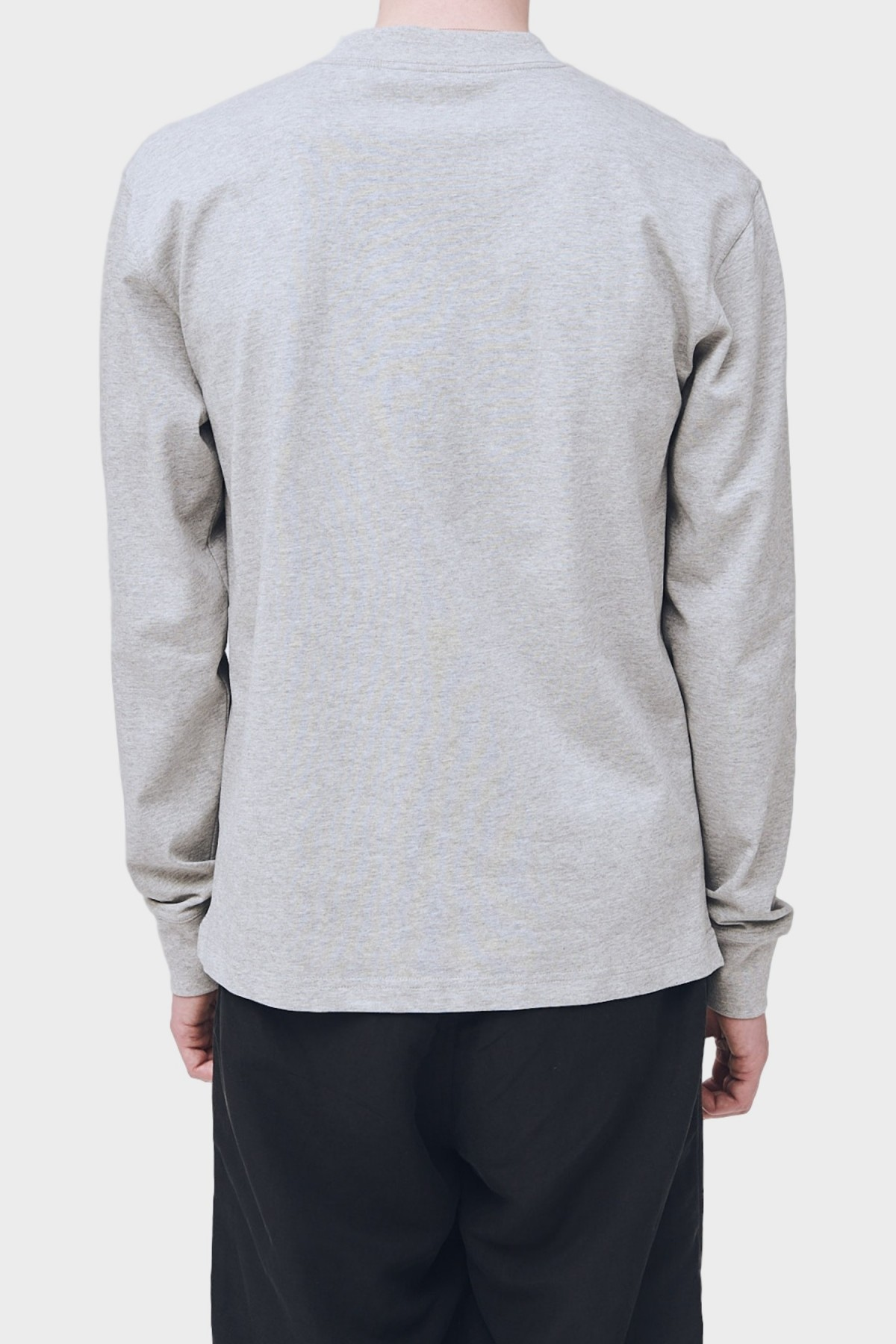 Soulland Cory Long Sleeve T-Shirt in Grey Melange