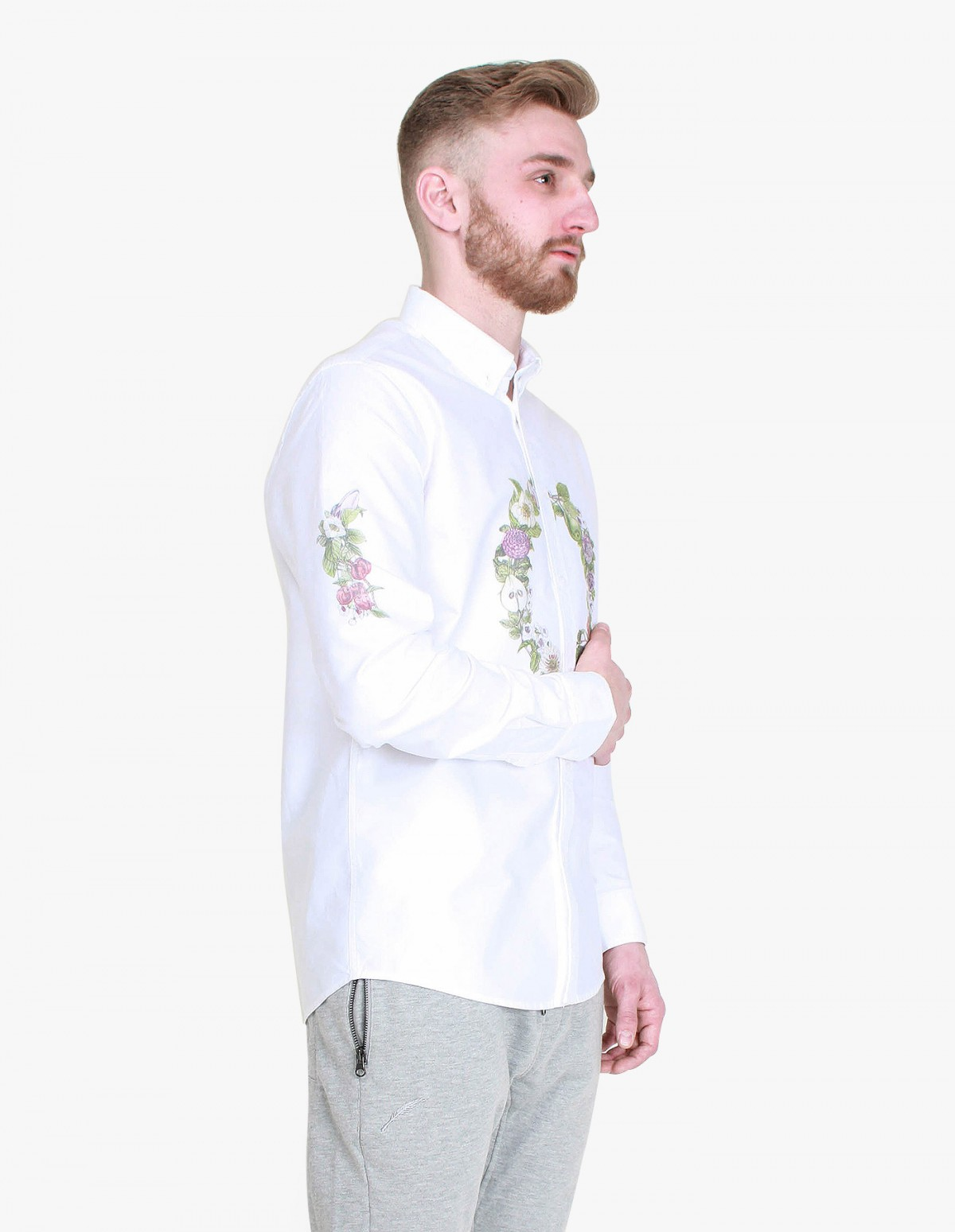 Soulland Samuel Shirt in White / Multicolour