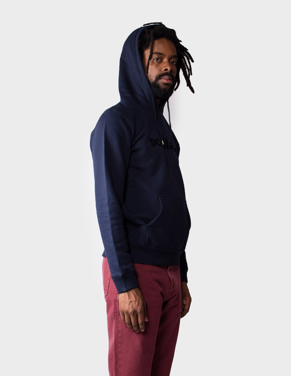 Soulland Logic Googie Hoodie in Navy