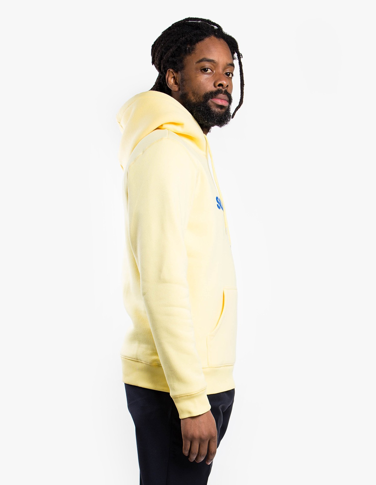 Soulland Logic Googie Hoodie in Yellow