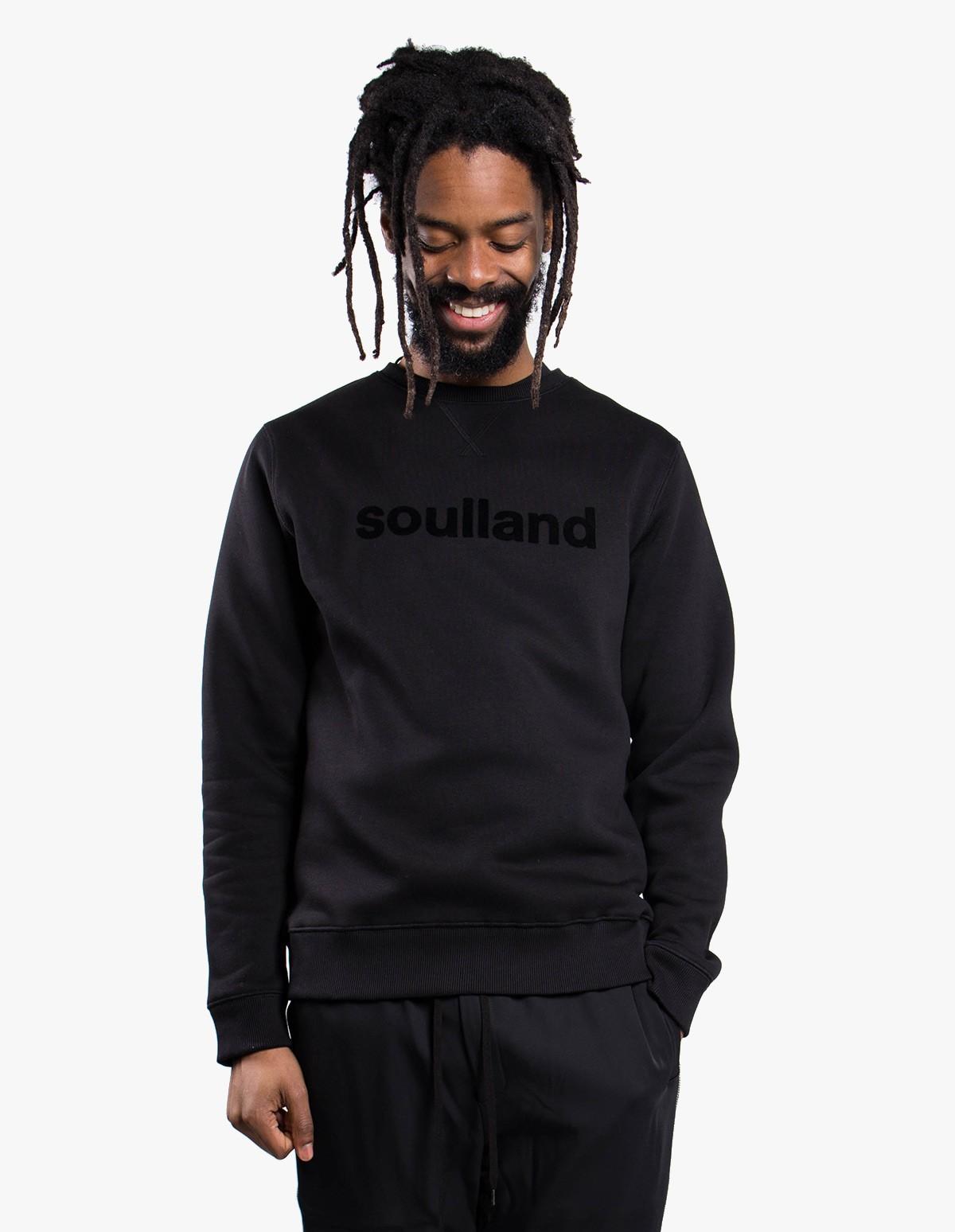 Soulland Logic Willie Crewneck  in Black