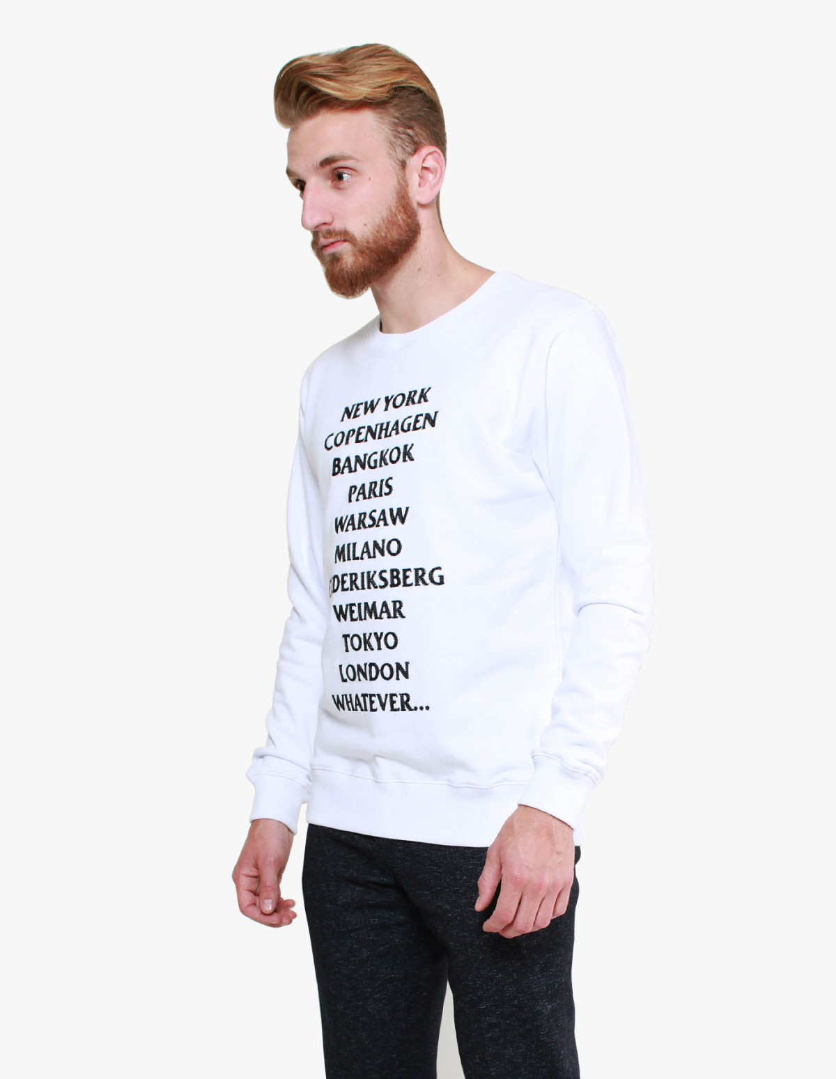 Soulland Parker Sweat in White