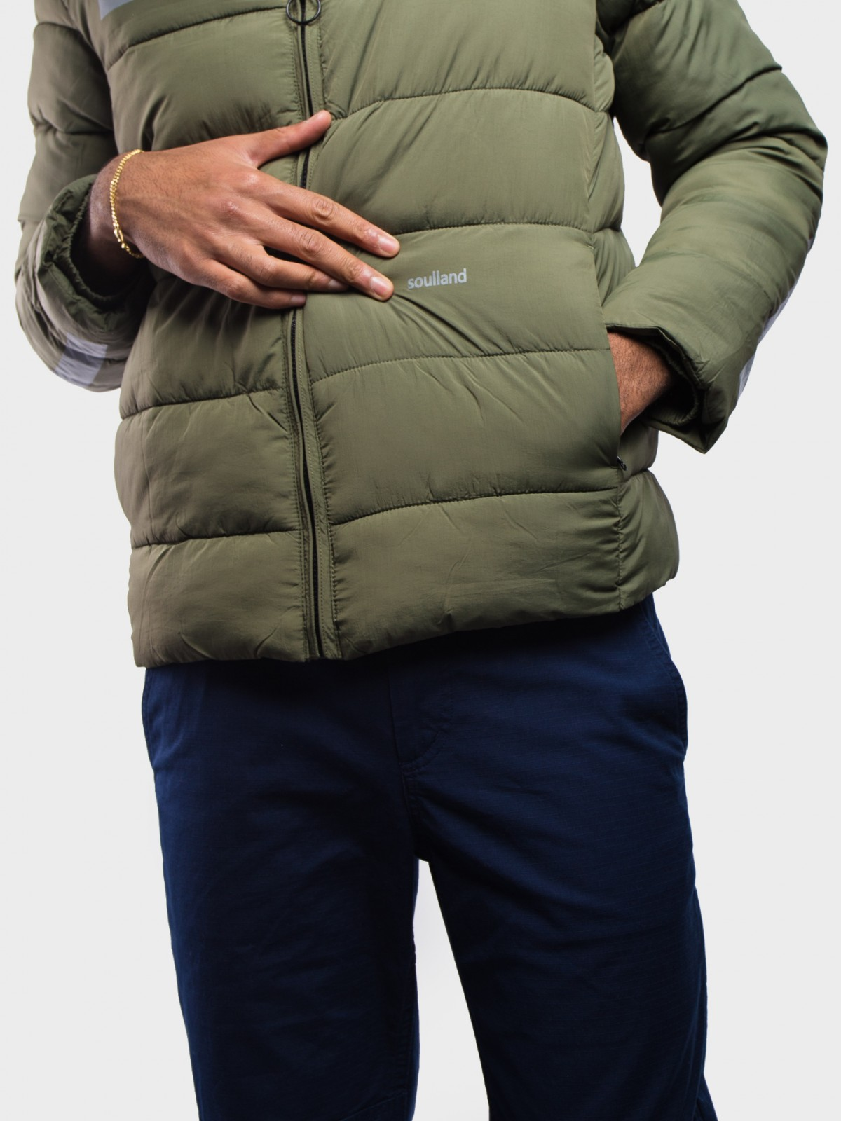 Soulland Nils Puffer Jacket  in Green