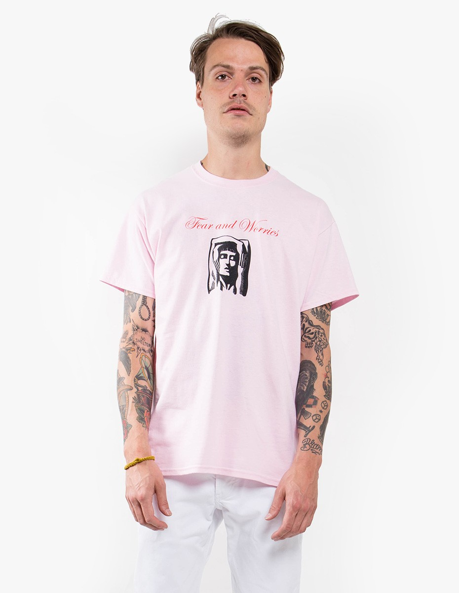 Strangers Fear and Worries Tee in Pink