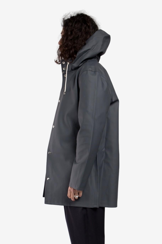 Stutterheim Stockholm Raincoat in Charcoal