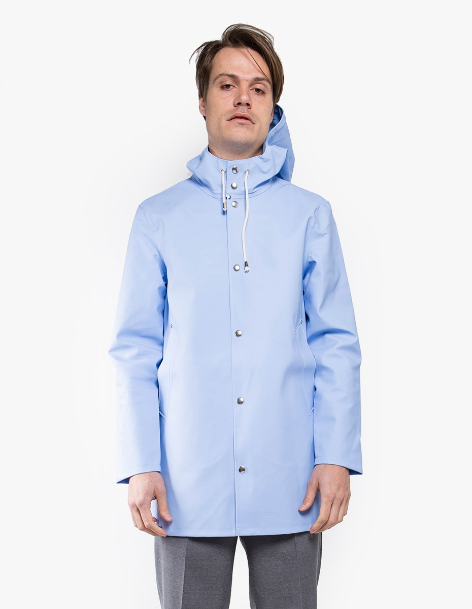 Stutterheim Stockholm Raincoat in Light Blue