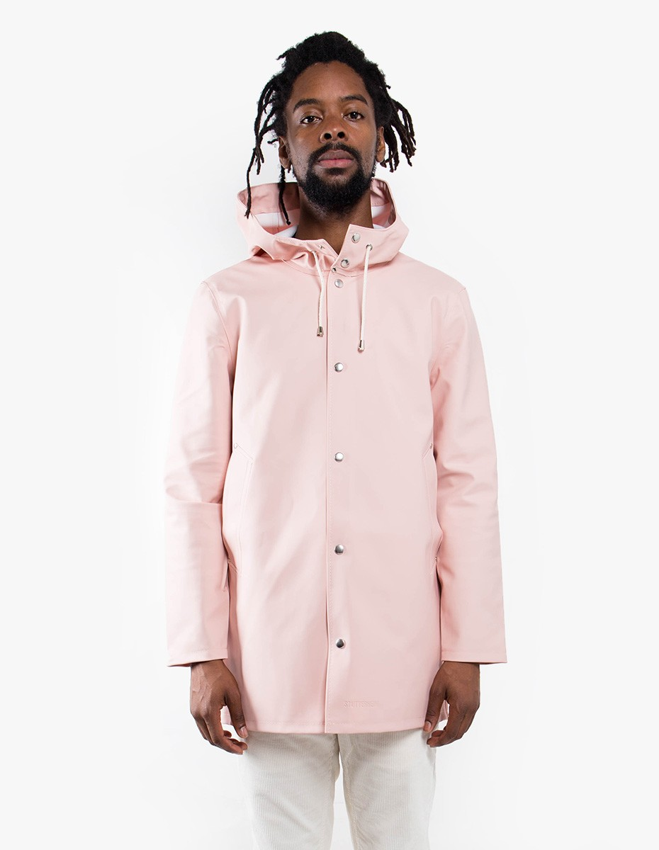 Stutterheim Stockholm Raincoat in Pale Pink