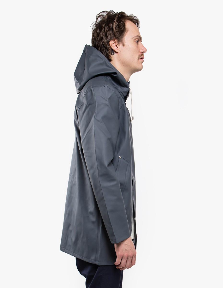 Stutterheim Stockholm Raincoat in Charcoal