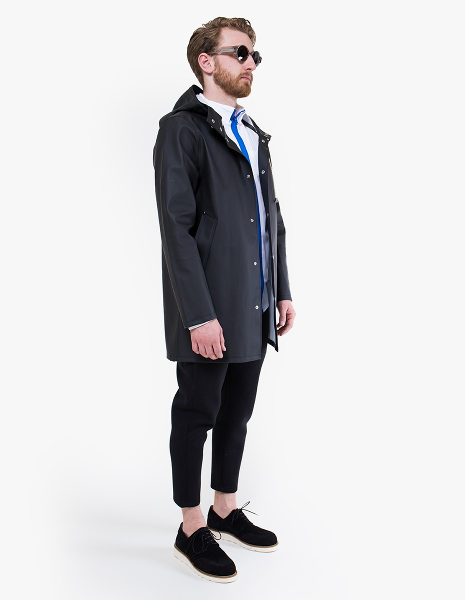 Stutterheim Stockholm Raincoat in Black