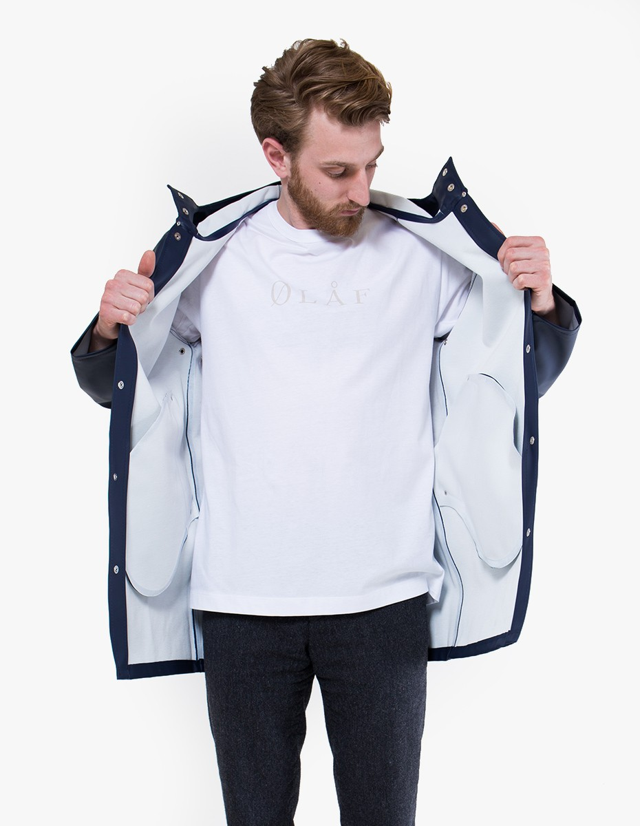 Stutterheim Stockholm Raincoat in Navy