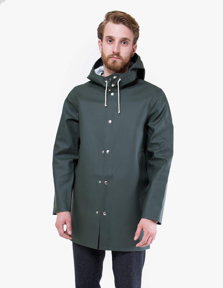 Stutterheim Stockholm Raincoat in Green