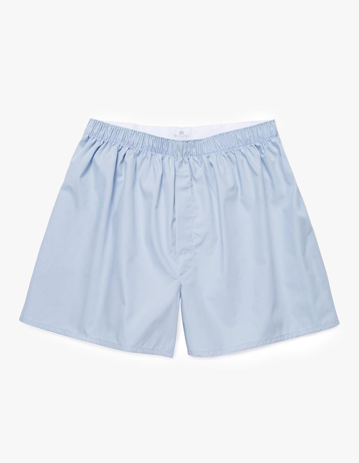 Sunspel Classic Boxer Short  in Light Blue