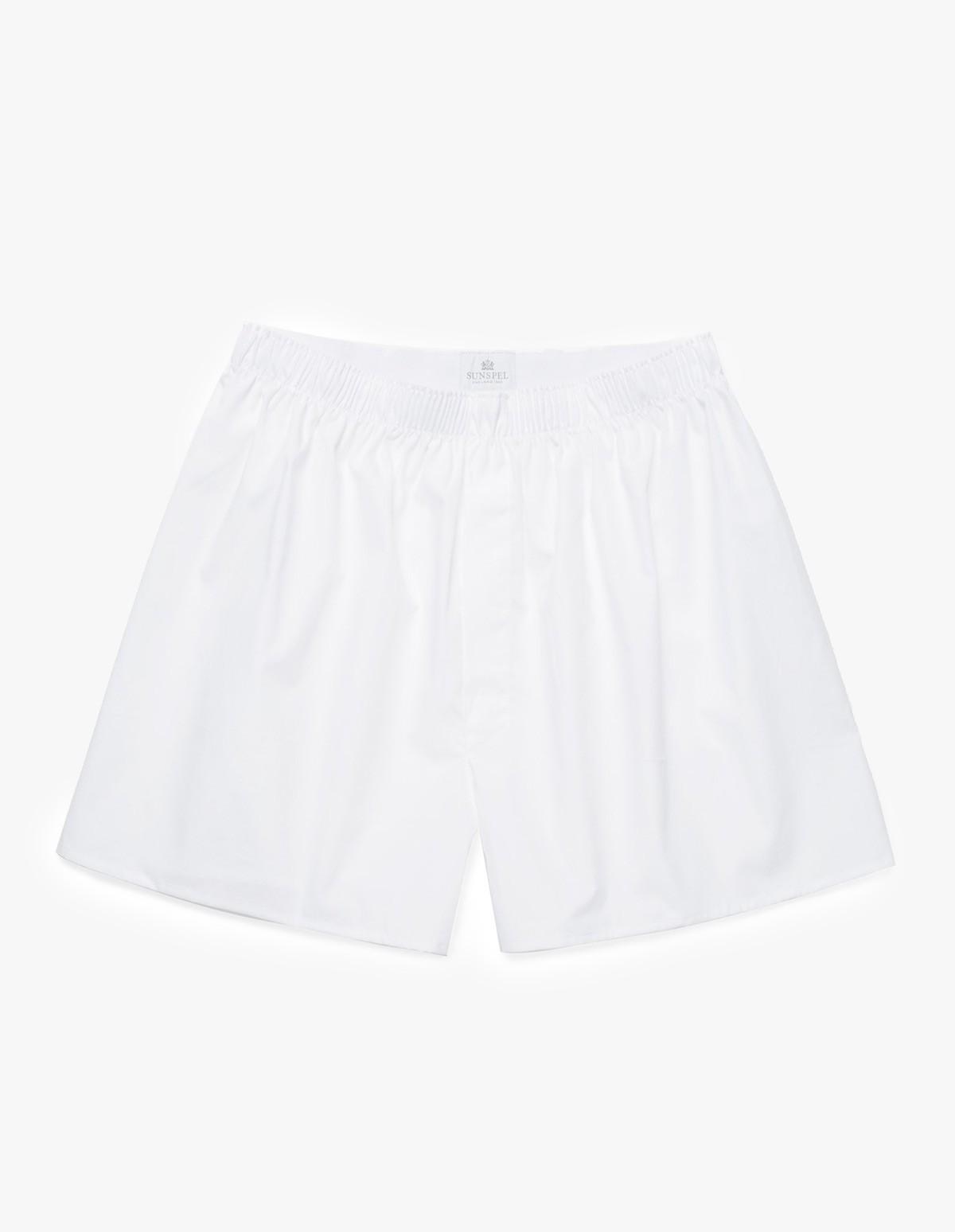 Sunspel Classic Boxer Short  in White