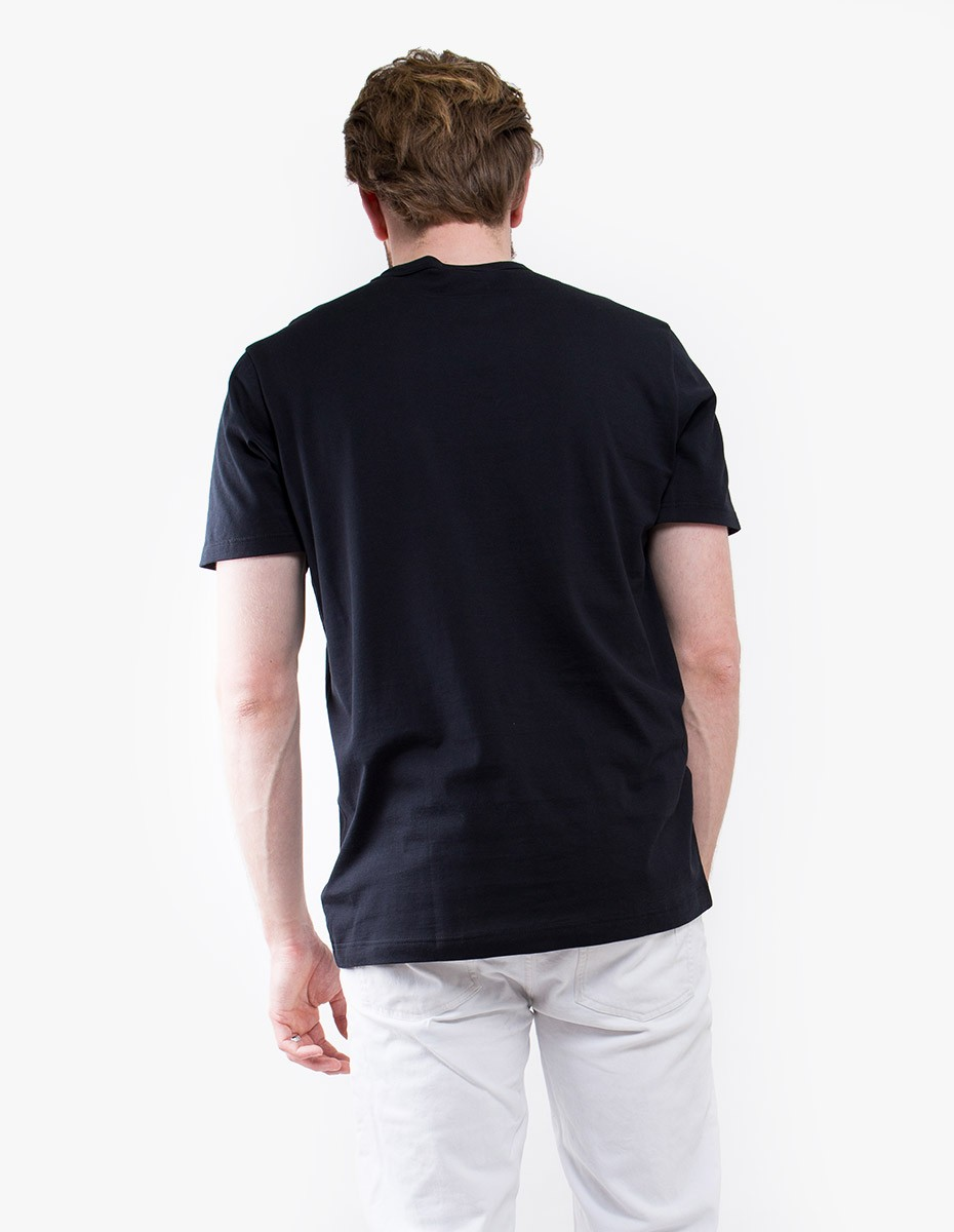 Sunspel Q82 Short Sleeve Crew Neck in Black