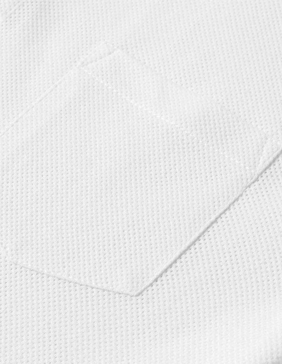 Sunspel Short Sleeve - Riviera Polo  in White