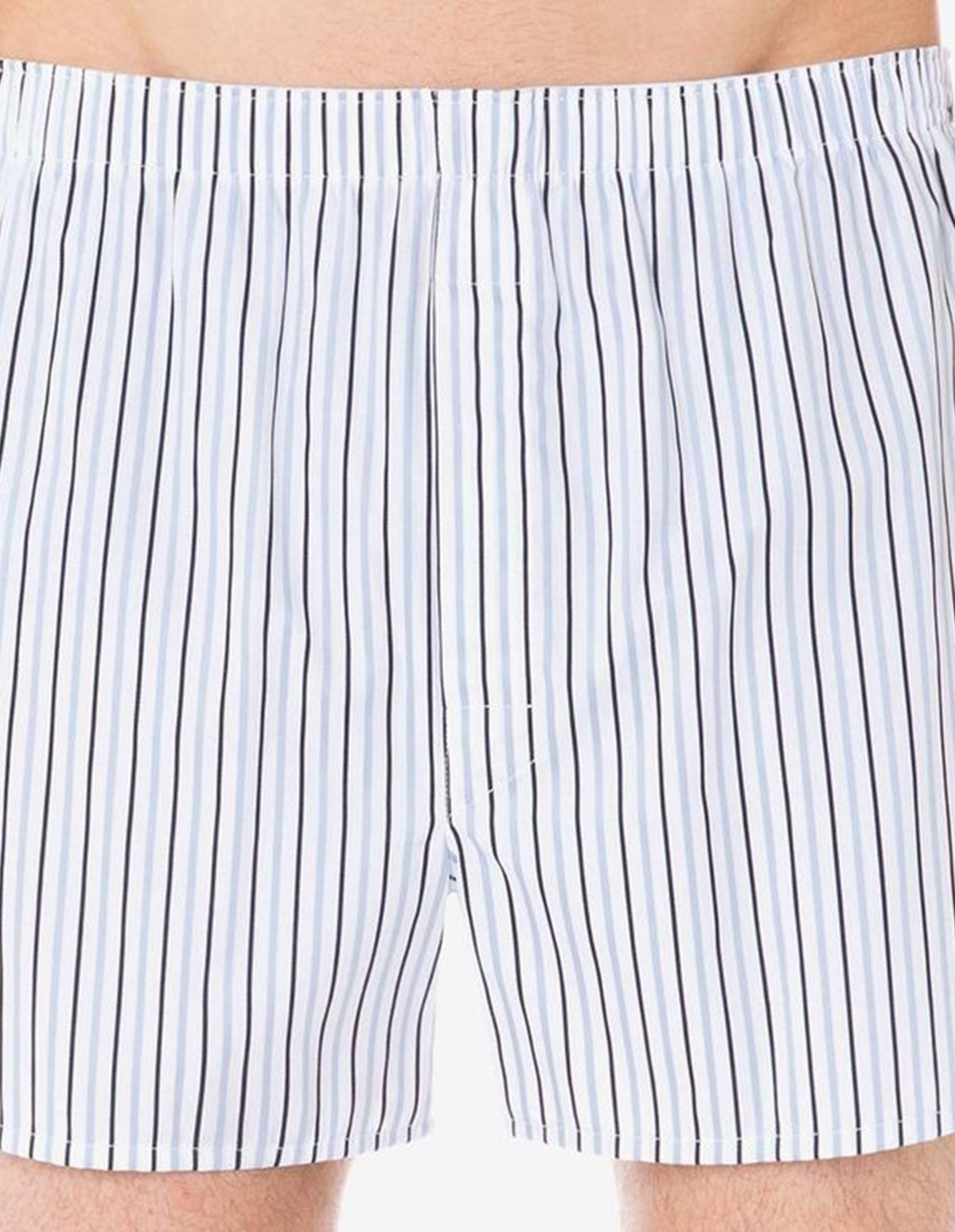 Sunspel Seasonal Boxer Short  in Dobby Stripe