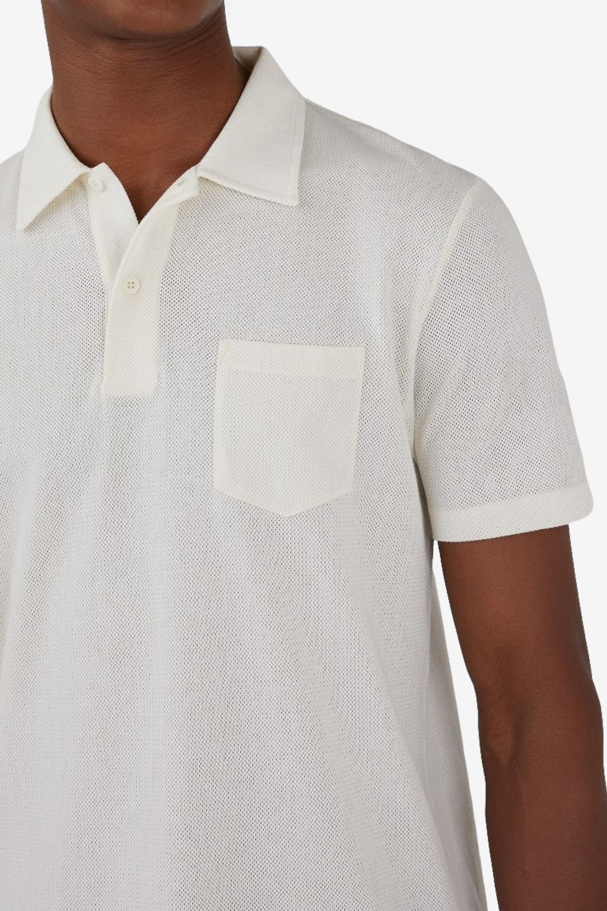 Sunspel Short Sleeve Riviera Polo in Archive White
