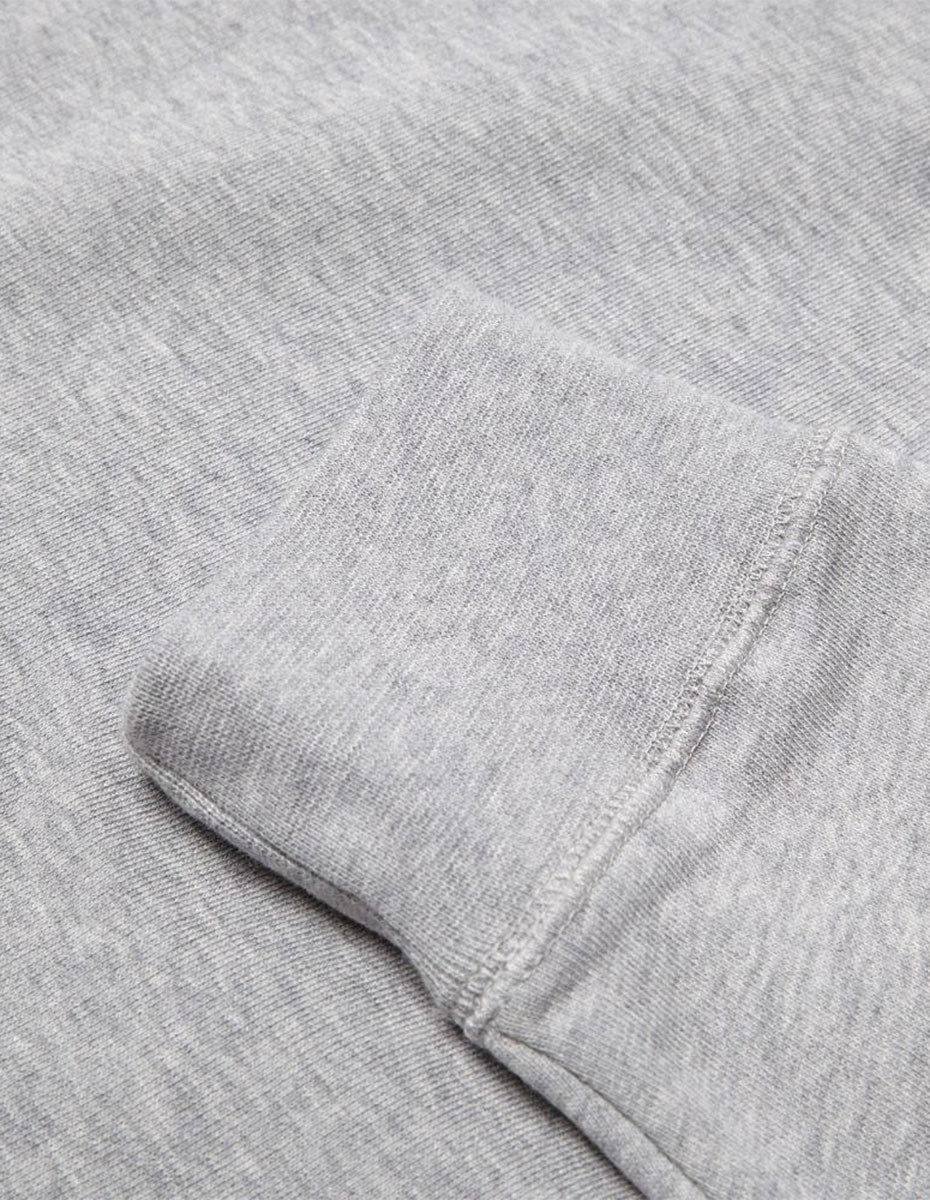Sunspel Sweat top  in Grey Melange