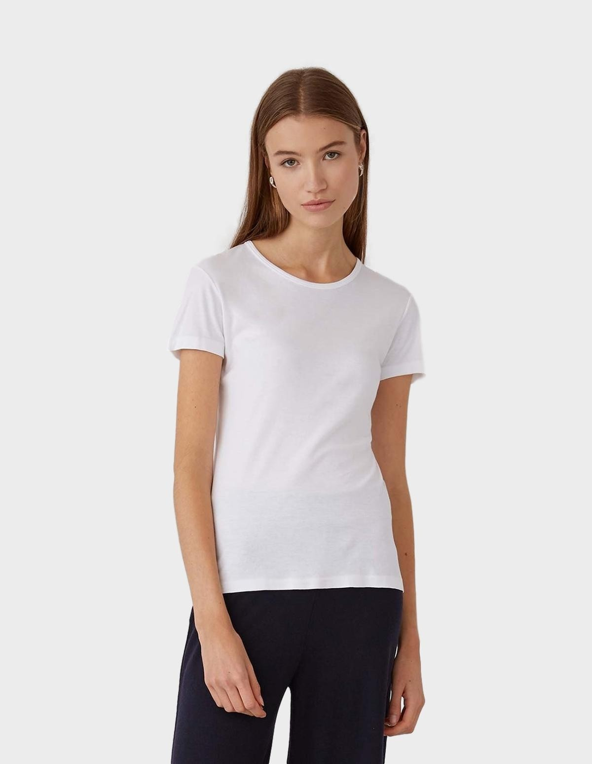 Sunspel Sea Island Cotton T- Shirt in White