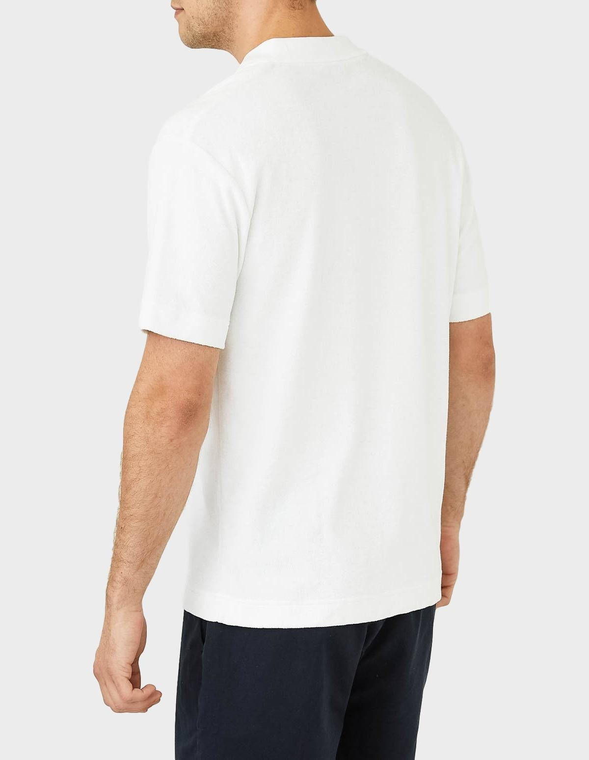 Sunspel Short Sleeve Terry Polo in White