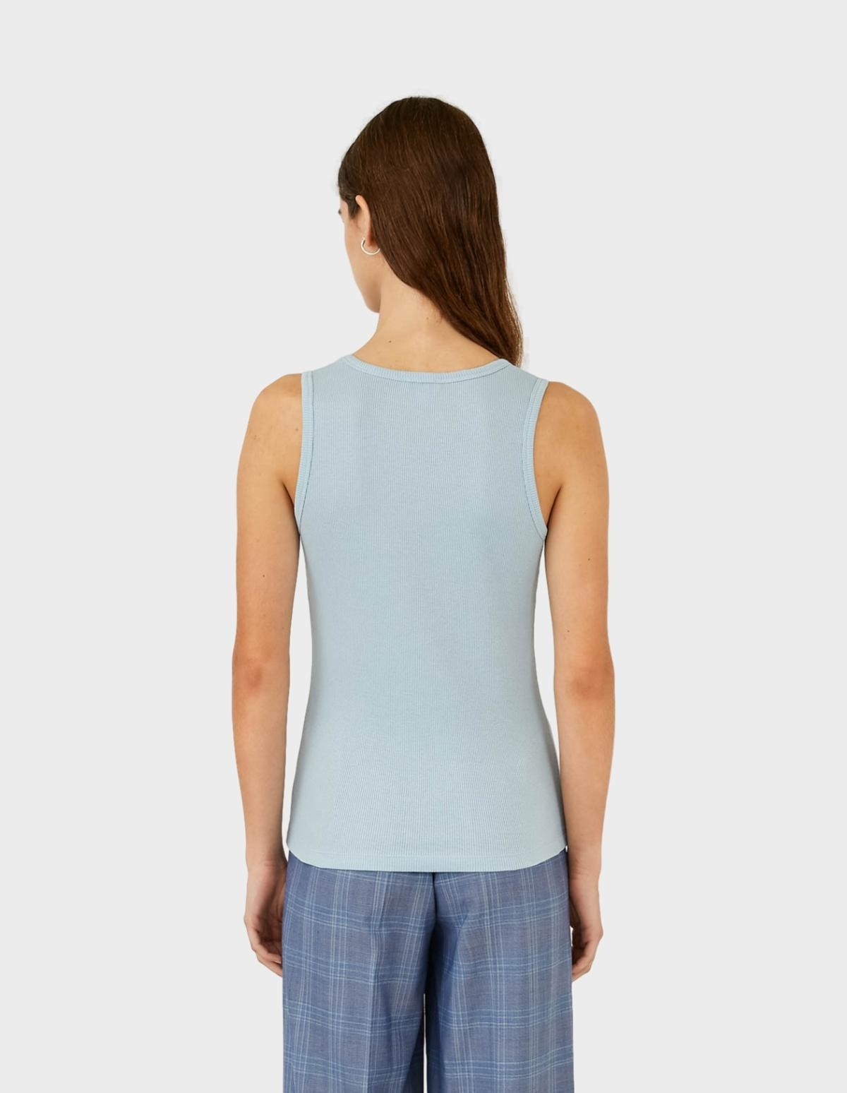 Sunspel Vest in Blue Jeans