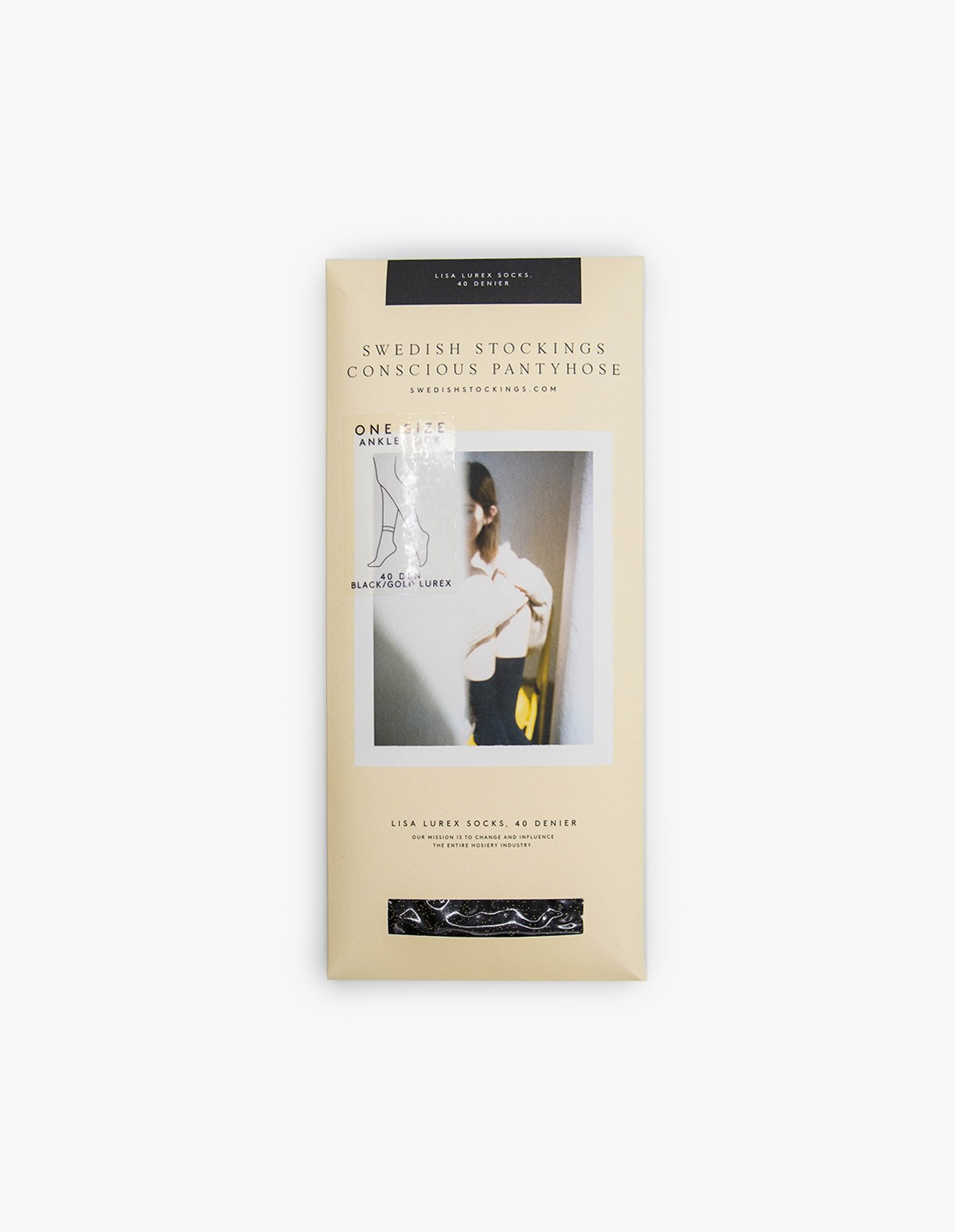 Swedish Stockings Lisa Socks in Black / Gold