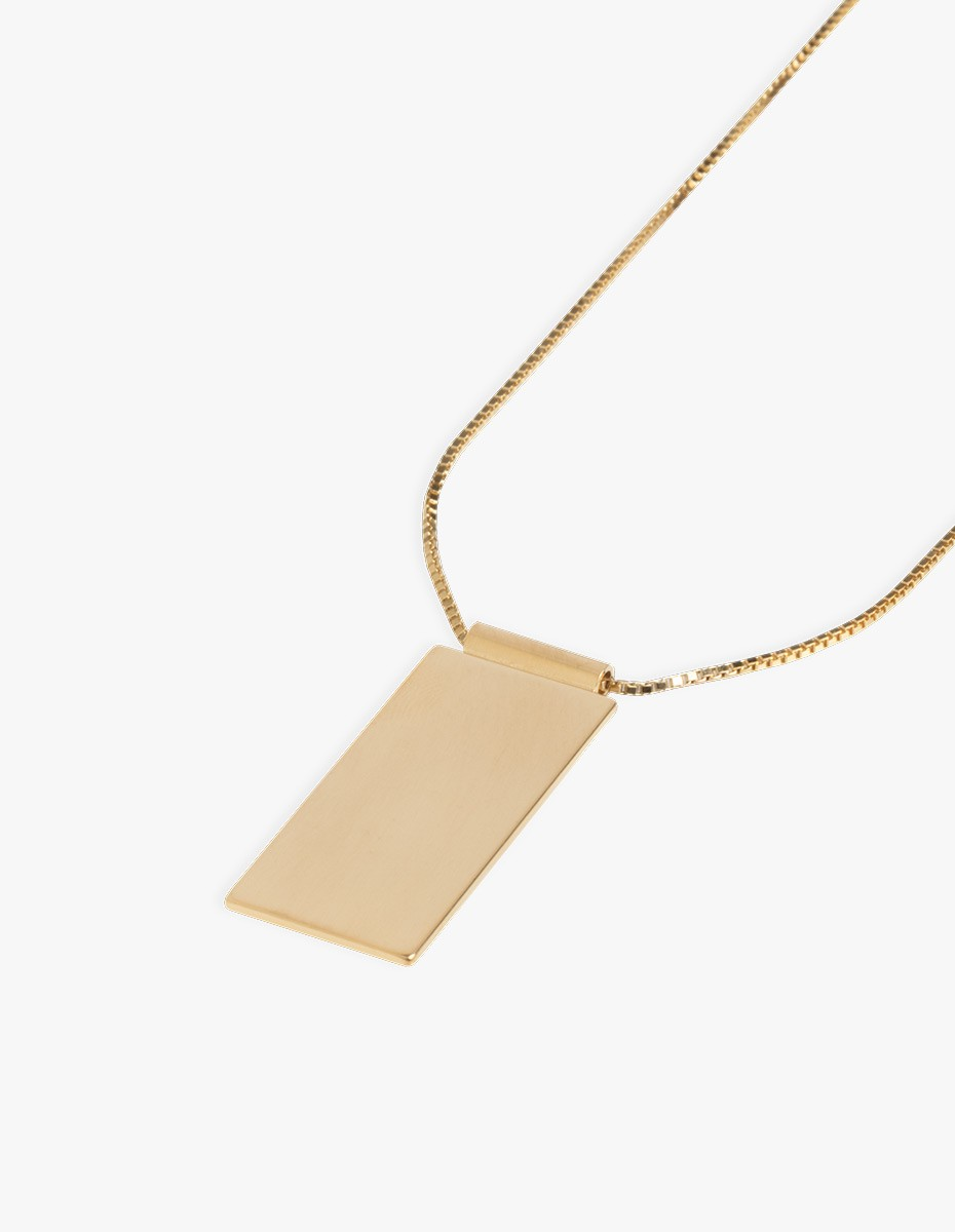 The Boyscouts Caption Pendant Necklace Gold in Gold