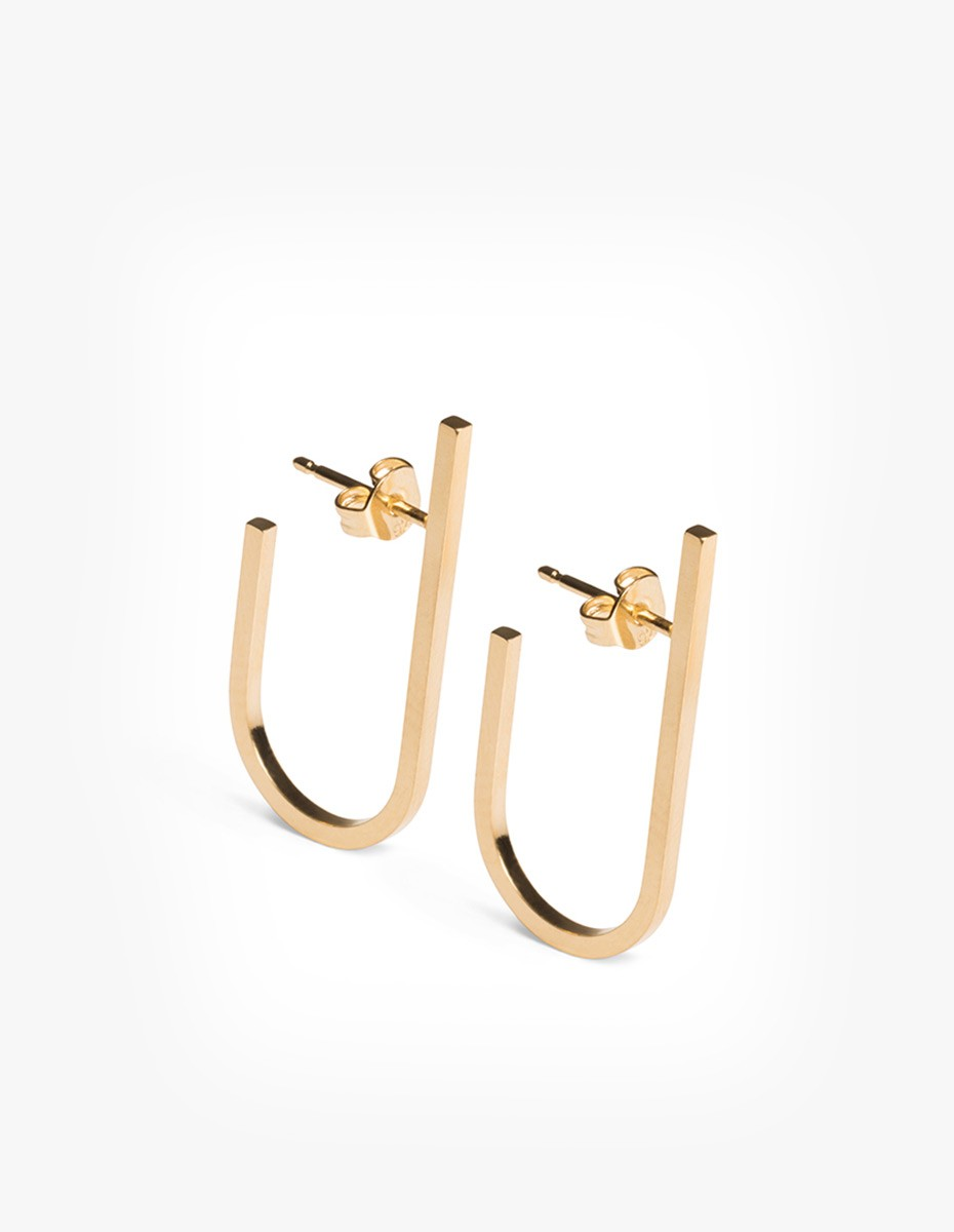 The Boyscouts Rivet Earring Gold - Pair in Gold