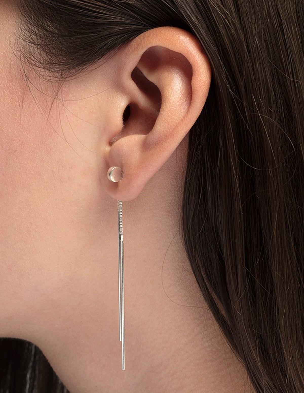 The Boyscouts Earrings Radius Clip Silver  in Silver