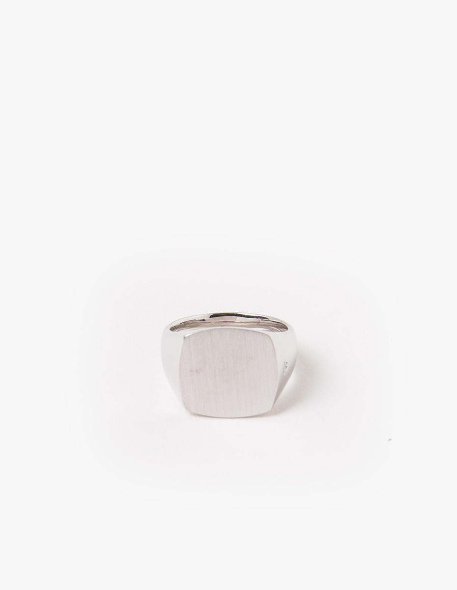 Tom Wood Cushion Satin Ring in Silver