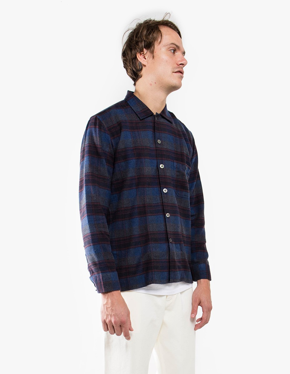 Tres Bien Short Tunic Flannel in Blue Check