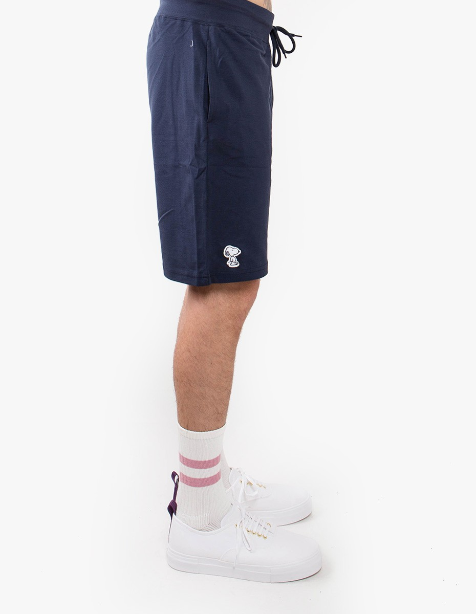 Snoopy Applique Short in Navy