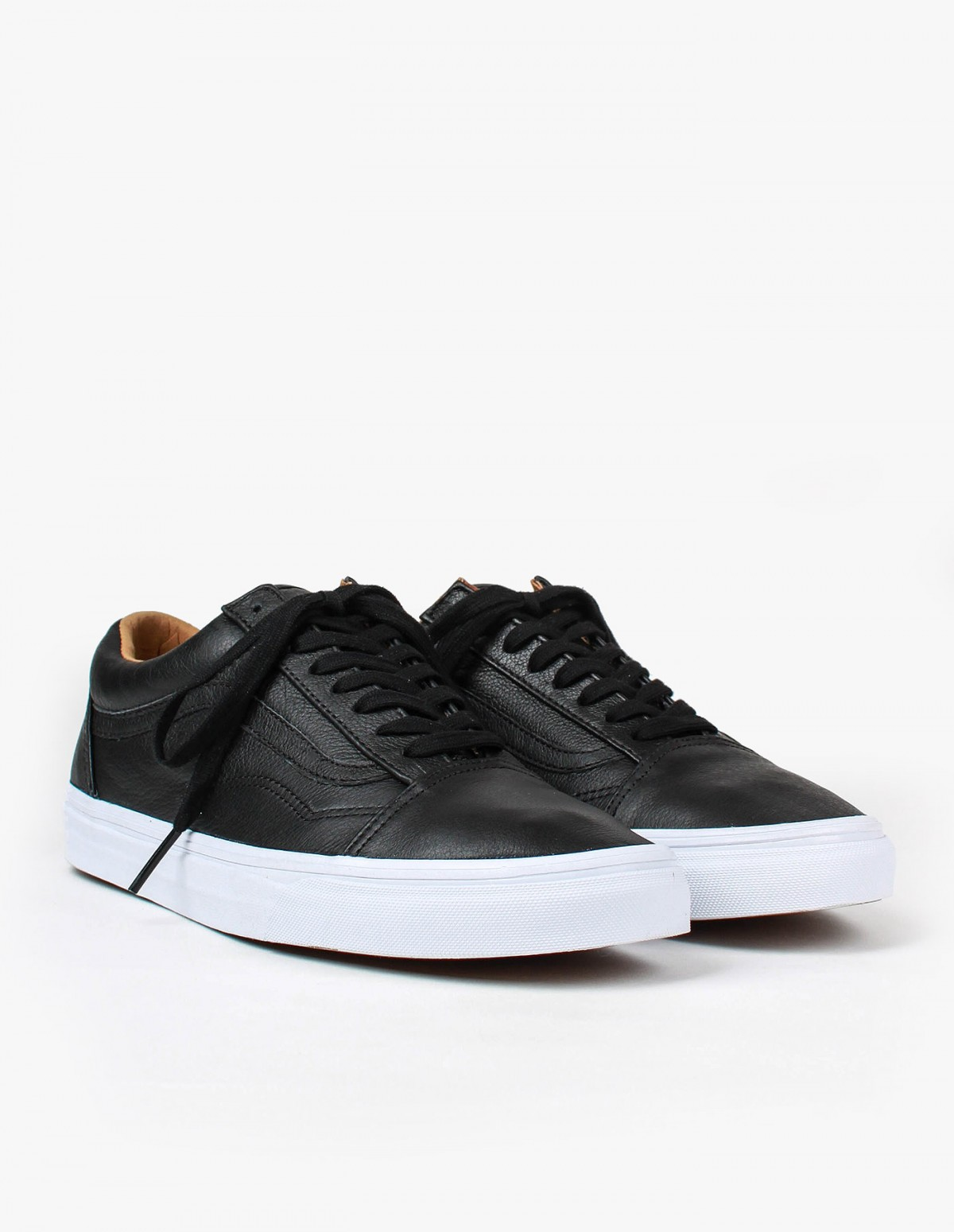 Vans Old Skool in Black Premium Leather