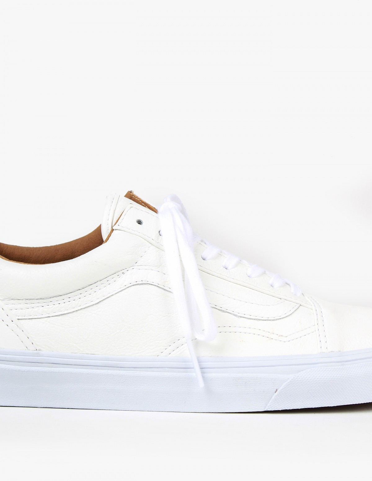 Vans Old Skool in White Premium Leather