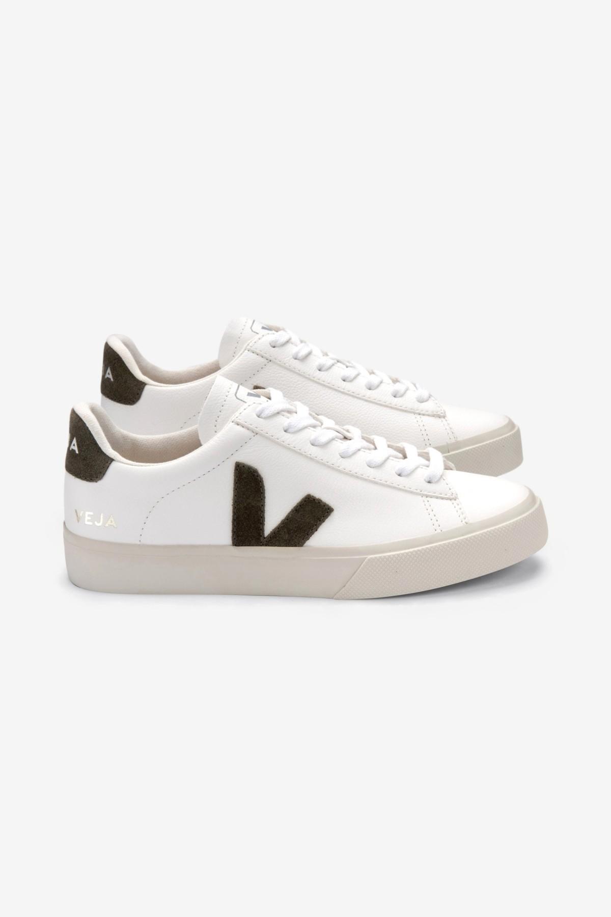 Veja Campo Chromefree Leather in Extra White Kaki